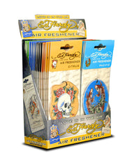 ED HARDY - AIR FRESHENER FOR CAR - 36CT/DISPLAY