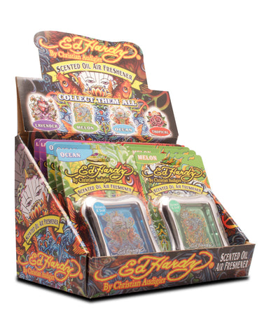 ED HARDY - SCENTED OIL AIR FRESHENER - 24CT/DISPLAY