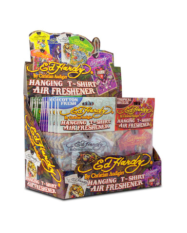 ED HARDY - T-SHIRT AIR FRESHENER - 24CT/DISPLAY