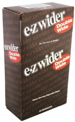EZ WIDER - DOUBLE WIDE CIGARETTE PAPER - 24CT/DISPLAY