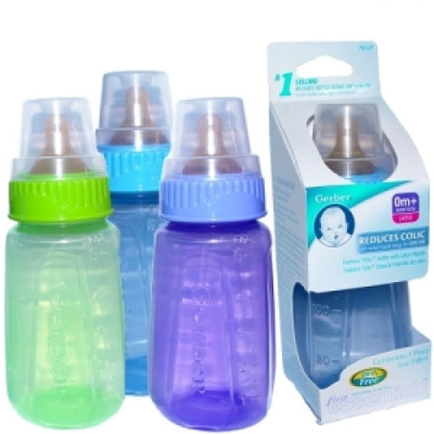 GERBER - BABY BOTTLE COLOR 5OZ - 6CT/UNIT