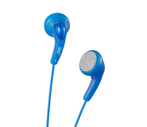 JVC - GUMY EAR BUD HEADPHONES - BLUE