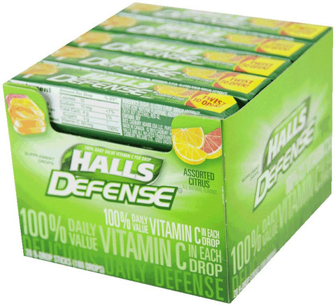 HALLS - VITAMIN-C COUGH DROPS - 20 CT/BOX