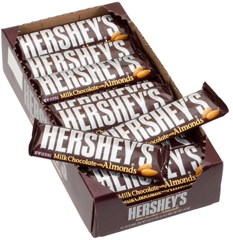 HERSHEY'S - CHOCOLATE w/ALMOND - 36CT/BOX