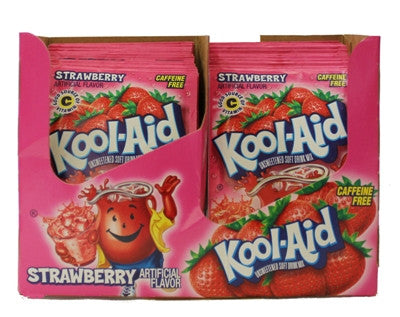 KOOL AID - STRAWBERRY - 48CT/BOX