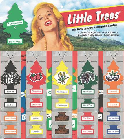 LITTLE TREES - CAR FRESHENER - 60CT/DISPLAY