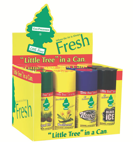LITTLE TREES - CAR FRESHENER SPRAY - ASSORTED 2.5OZ (70G) - 12CT/DISPLAY