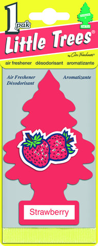 LITTLE TREES - CAR FRESHENER - STRAWBERRY 1-PACK - 24CT/BOX