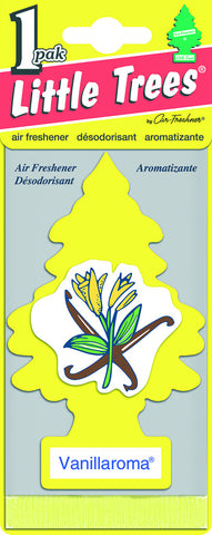 LITTLE TREES - CAR FRESHENER - VANILLAROMA 1-PACK - 24CT/BOX