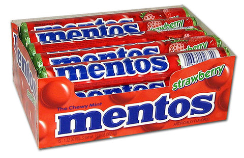 MENTOS - STRAWBERRY - 15CT/BOX