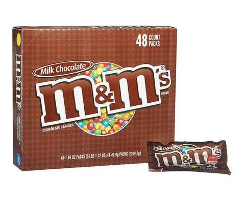 M&M'S - MILK CHOCOLATE - 48CT/BOX