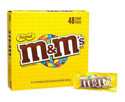 M&M'S - PEANUT - 48CT/BOX