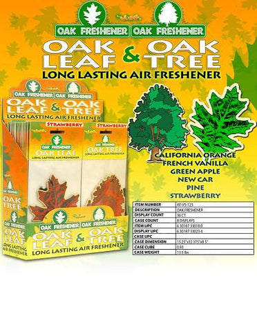 OAK LEAF & OAK TREE - AIR FRESHENER - 36CT/DISPLAY