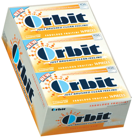 ORBIT - FABULOUS FRUITINI GUM - 12CT/BOX