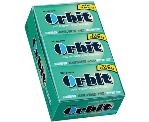 ORBIT - SWEET MINT GUM - 12CT/BOX