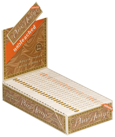 PURE HEMP - UNBLEACHED CIGARETTE PAPER 1.25 - 25CT/DISPLAY