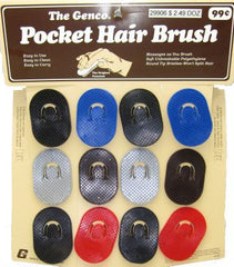 POCKET HAIR BRUSH - 12CT/CARD