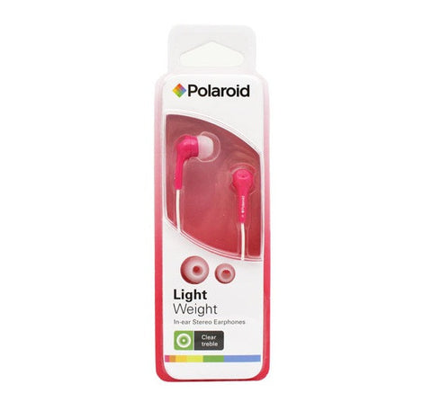 POLAROID - LIGHTWEIGHT HEADPHONES - PEP14 - PINK