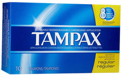 TAMPAX - REGULAR 10'S  - 12CT/UNIT