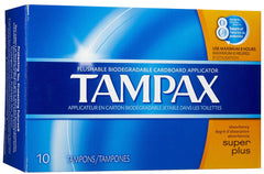 TAMPAX - SUPER PLUS 10'S  - 12CT/UNIT