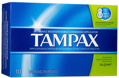 TAMPAX - SUPER 10'S  - 12CT/UNIT