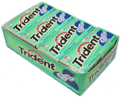 TRIDENT - MINTY SWEET TWIST GUM - 12CT/BOX