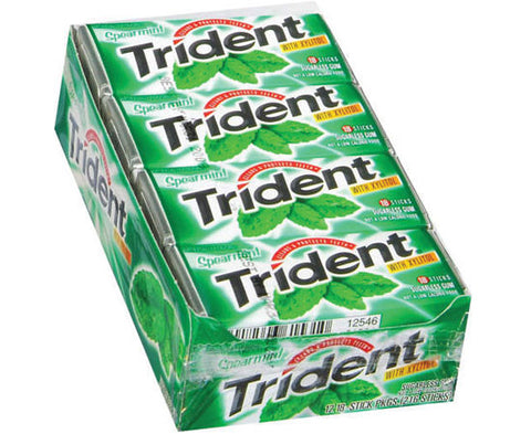 TRIDENT - SPEARMINT GUM - 12CT/BOX