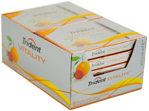 TRIDENT VITALITY - VIGORATE W/CITRUS GUM - 10CT/BOX