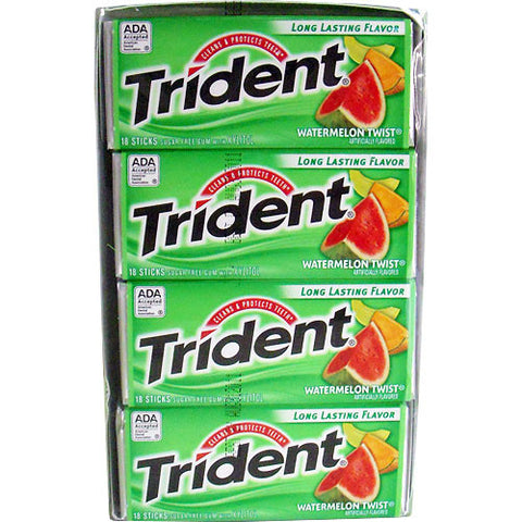 TRIDENT - WATERMELON TWIST GUM - 12CT/BOX