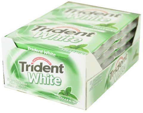 TRIDENT WHITE - SPEARMINT GUM - 12CT/BOX