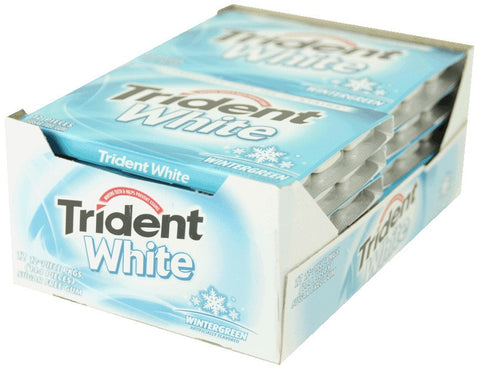 TRIDENT WHITE - WINTERGREEN GUM - 12CT/BOX
