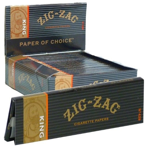 ZIG ZAG - KING SIZE CIGARETTE PAPER - 24CT/DISPLAY