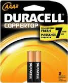 DURACELL - AAA-2  - COPPERTOP USA