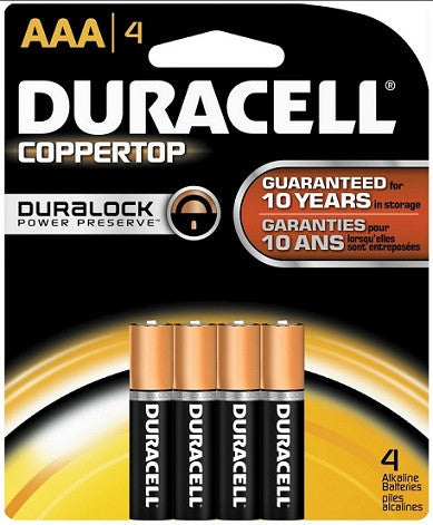DURACELL - AAA-4 - COPPERTOP USA