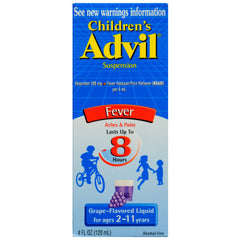ADVIL - CHILDREN'S FEVER 4OZ - GRAPE - 6CT/UNIT