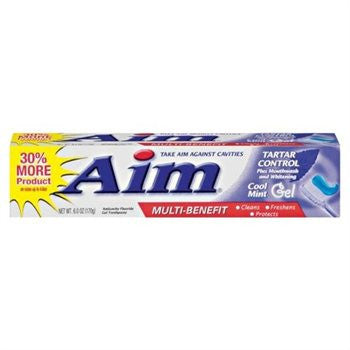 AIM - TARTAR CONTROL - MINT GEL TOOTHPASTE 6OZ - 12CT/UNIT