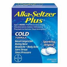 ALKA-SELTZER - PLUS COLD - 24CT/2PK/BOX