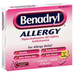 BENADRYL - ALLERGY 24'S - 6CT/UNIT