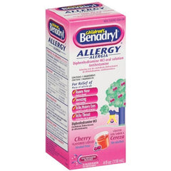 BENADRYL - CHILDREN ALLERGY + SINUS 4OZ - GRAPE - 6CT/UNIT