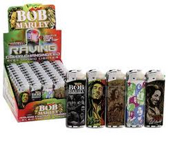 BOB MARLEY - RAVING LIGHTERS - 50PC/BOX