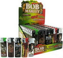 BOB MARLEY - REFILLABLE TORCH LIGHTERS - 50PC/BOX