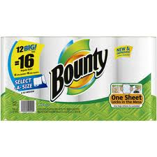 BOUNTY - PAPER TOWELS SELECT - 12CT/CASE
