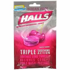 HALLS - BLACKBERRY COUGH DROPS - 12CT/BOX