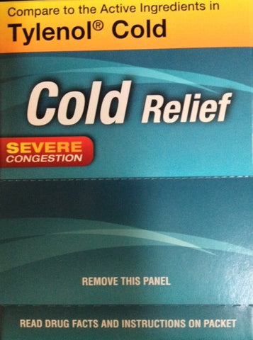 COLD RELIEF - 50CT/BOX (TYLENOL COLD HEAD CONGESTION)