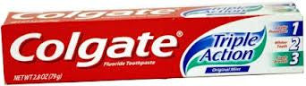 COLGATE - TRIPLE ACTION TOOTHPASTE 2.8OZ - 12CT/UNIT