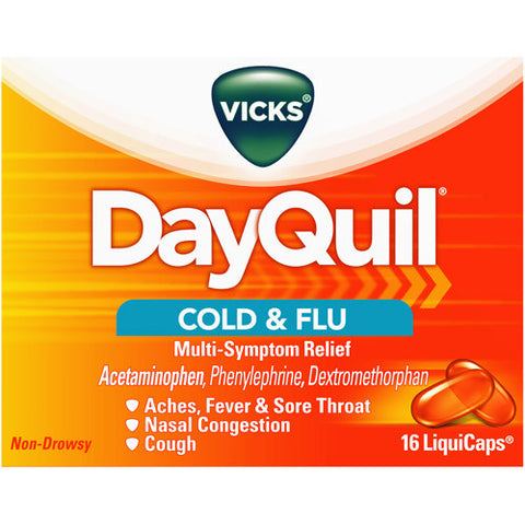 DAYQUIL - COLD + FLU CAPLETS 16'S - 6CT/UNIT