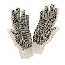 GLOVES - WHITE DOTTED - 12CT/PACK