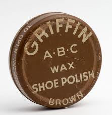 GRIFFIN SHOE POLISH - BROWN - 12CT/BOX
