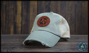 Come and Chive It Leather Dad Cap