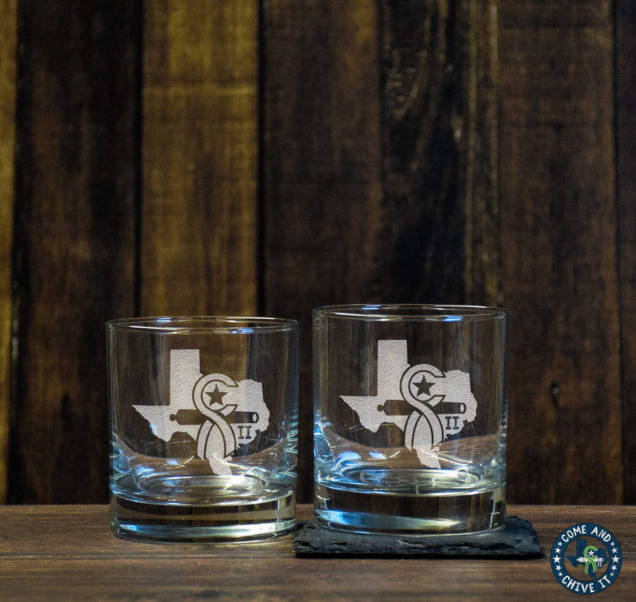Texas Chive Low Ball Glass Set